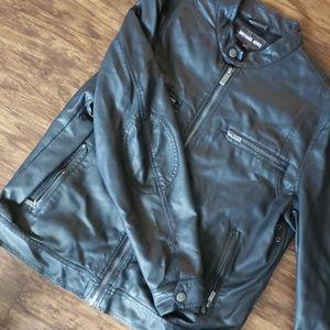 Mens black Michael Kors leather jacket